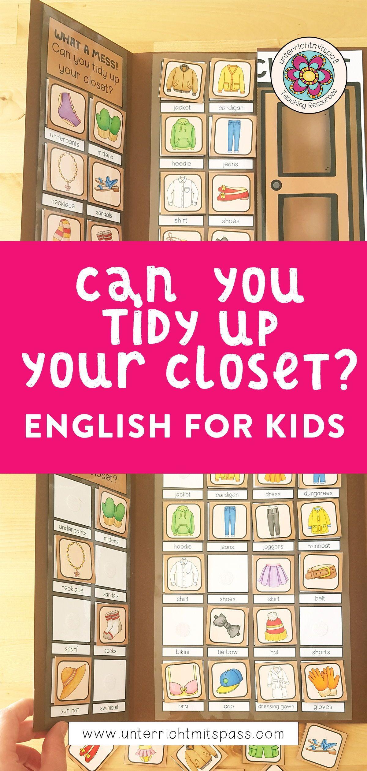 Clothes In My Closet Legeubung Klett Lapbook Unterrichtsmaterial Im Fach Englisch In 2020 Unterrichtsmaterial Vokabeln Lernen Englisch Lernen Kinder