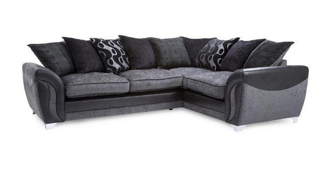 Farrow Left Hand Facing 3 Seater Pillow Back Corner Sofa Talia Dfs Corner Sofa Sofa Corner Sofa Bed