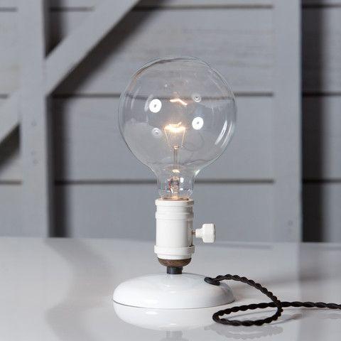 Industrial Desk Light Bare Bulb Lamp In 2021 Desk Light Industrial Desk Lamp Desk Lamps