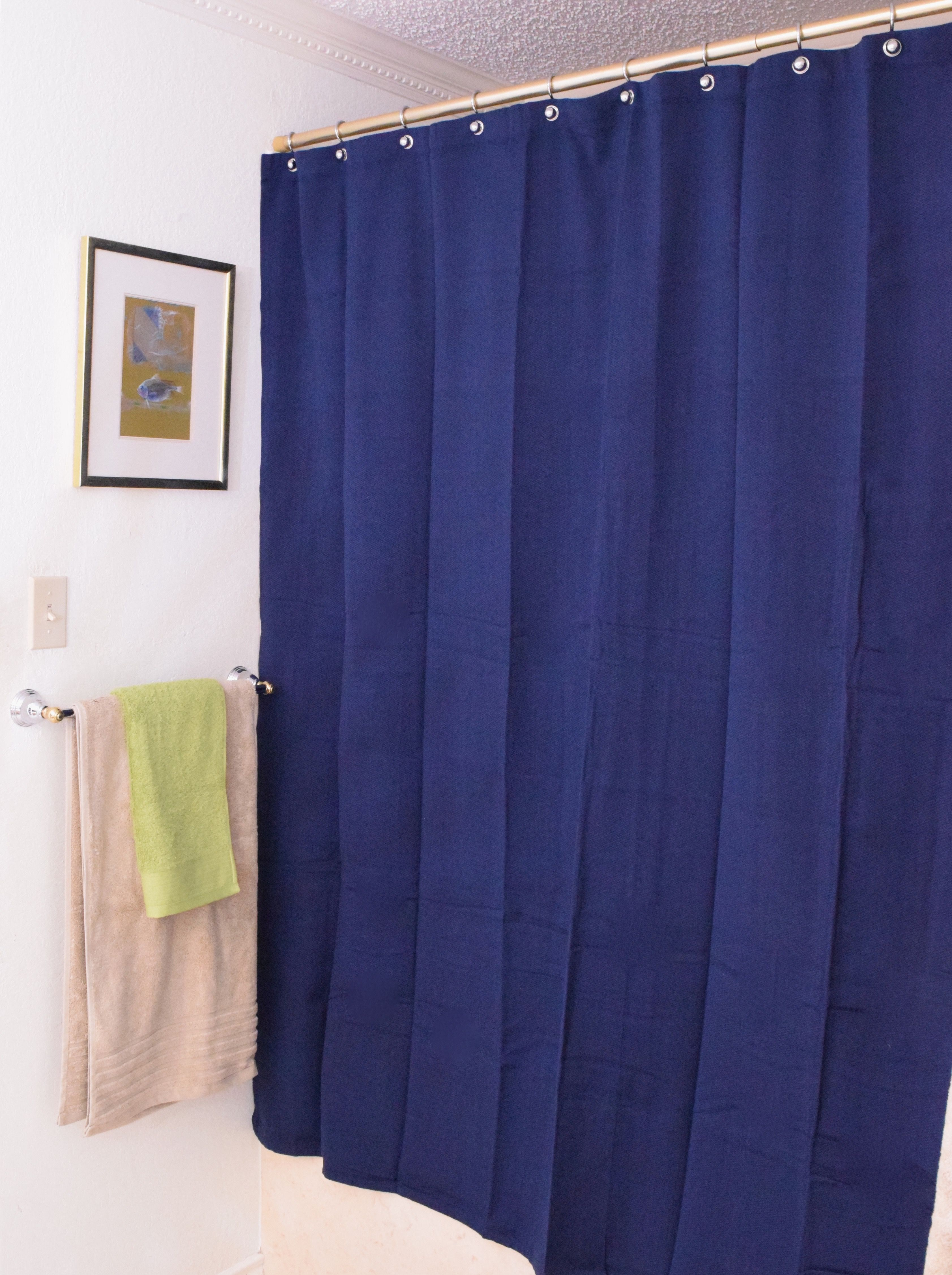Bathroom Makeover   Start With The Shower Curtain. #tuesdaymorning