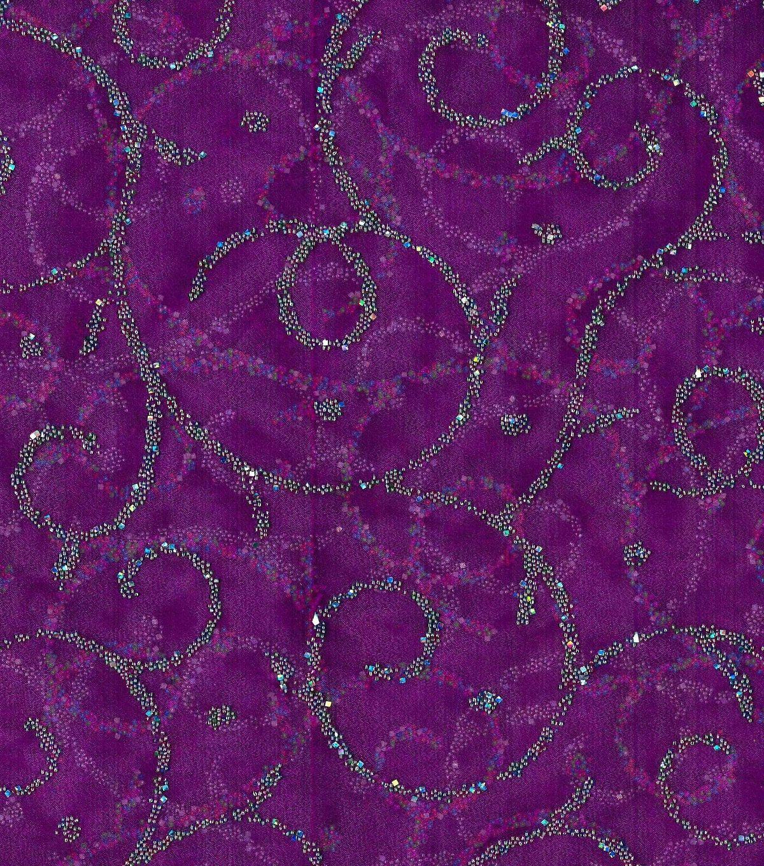 All That Glitters Fabric- Caviar Scroll Organza Dewberry, End of Bolt 0.5 Yards by LaCreekBlue on Etsy
