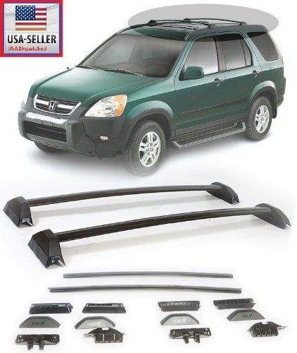 02 06 Honda Crv Black Roof Rack Cross Bars Sport Utility Luggage Carrier 2002 2003 2004 2005 2006 Eaxiracing Ht Honda Crv Honda Crv Accessories Luggage Carrier