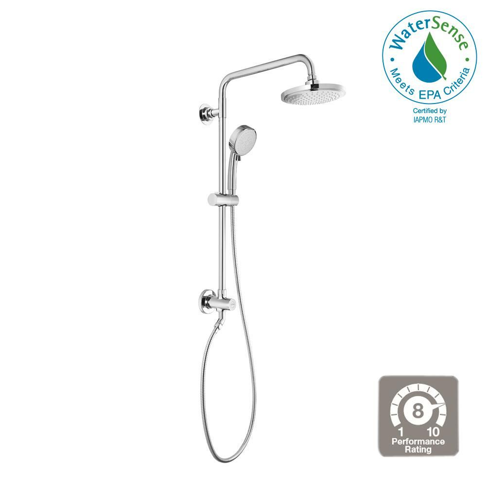 Grohe Vitalio 5 Spray 7 In Dual Shower Head And Handheld Shower