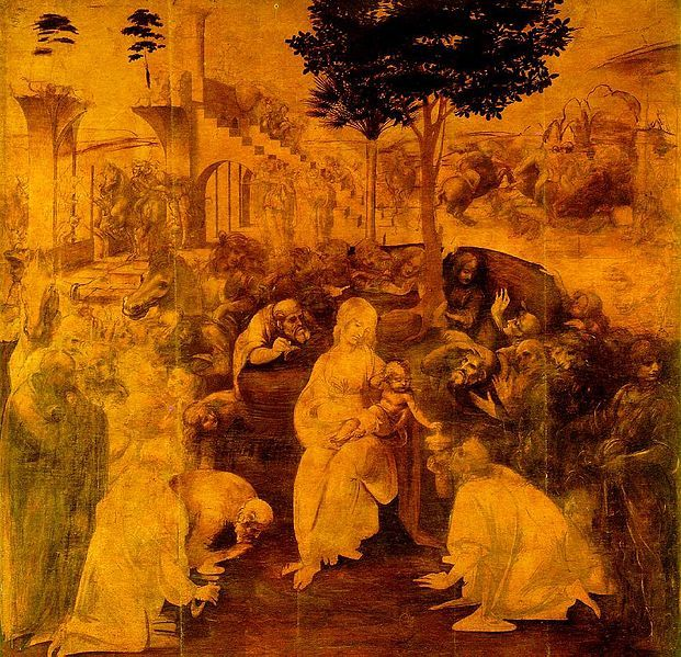 Súbor:Leonardo da Vinci Adoration of the Magi.jpg