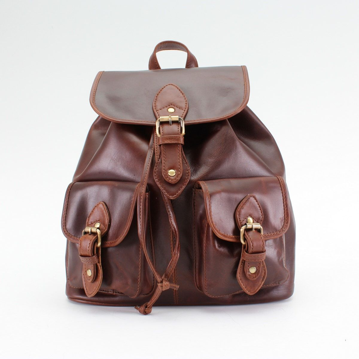 49269dec4c3c8 Pin by Judy Albers on Backpacks   Leather Backpack, Brown leather ...