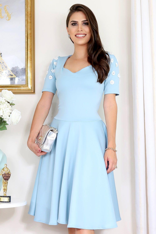 65b28258ceb5 Vestido Carolina Moda Evangélica Gisele Santana - Vestido da marca Gisele  Santana confeccionado no tecido Crepe / Malha sem Estampa.