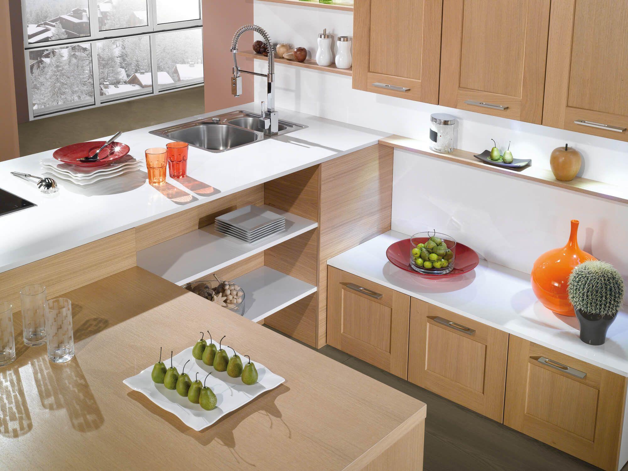 Pyram oak for the kitchen, creates a modern
