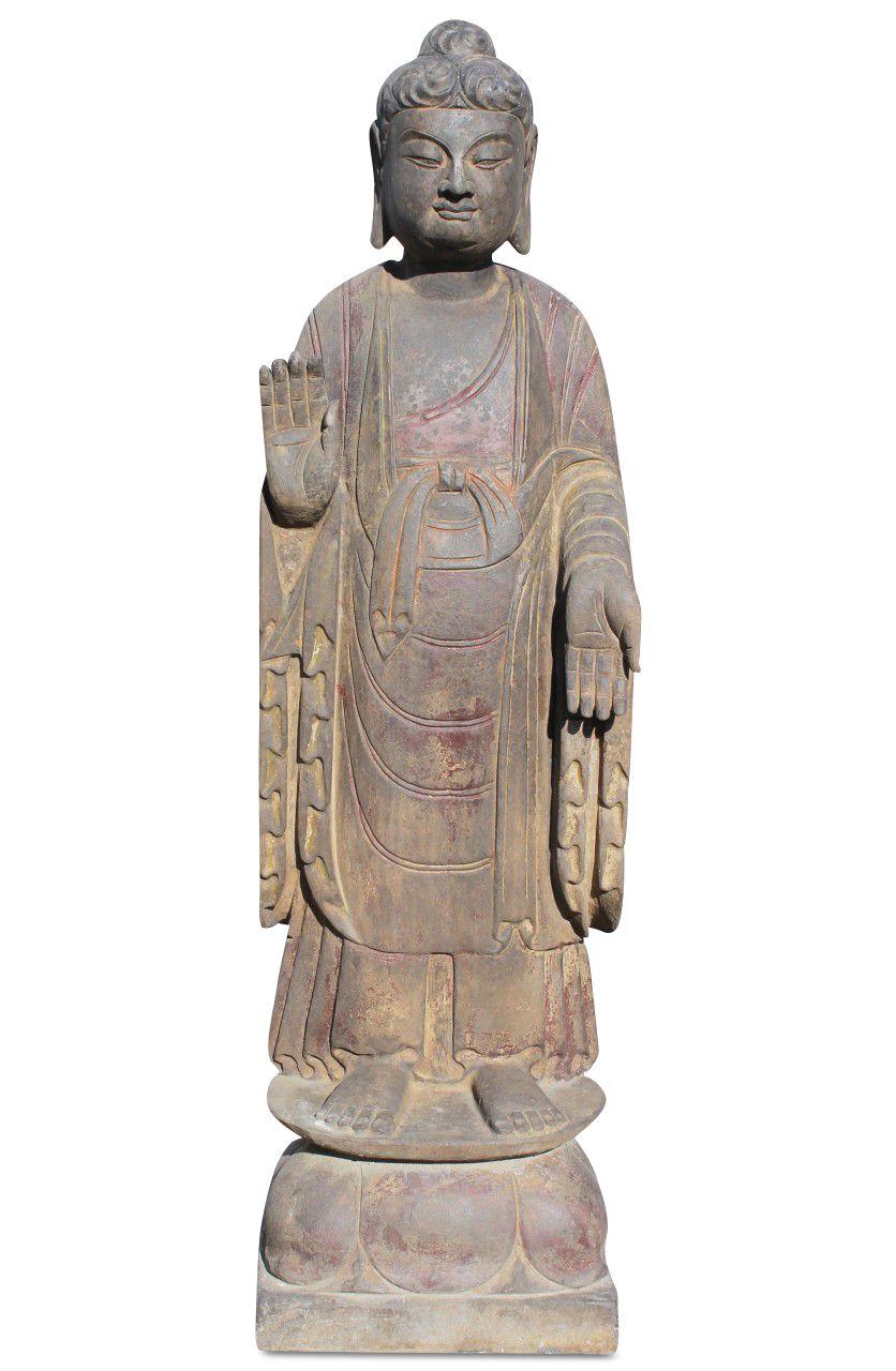 Stehender Garten Buddha Aus Naturstein China Buddha Statue Buddha Statue