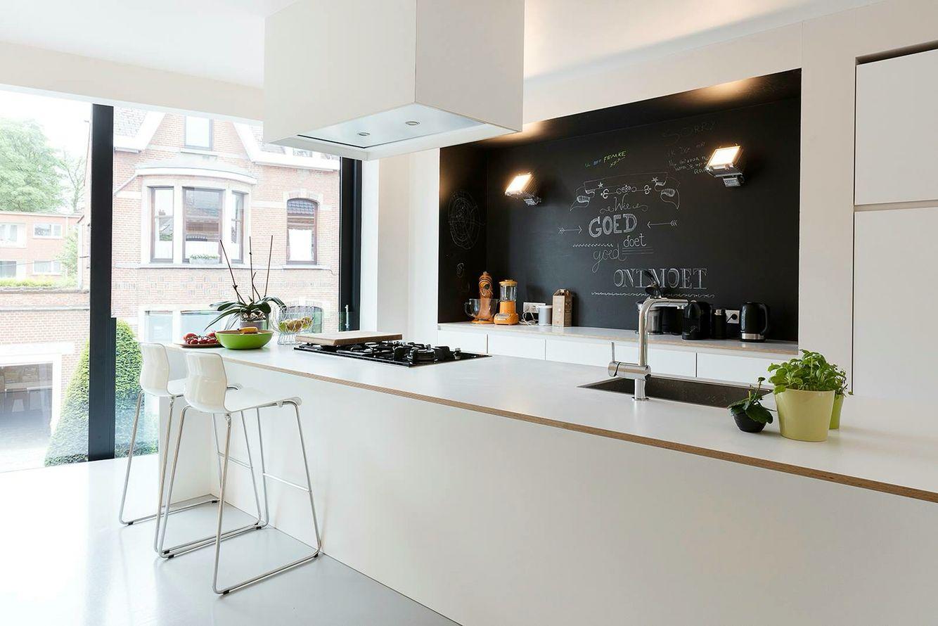Keuken achterwand krijtverf