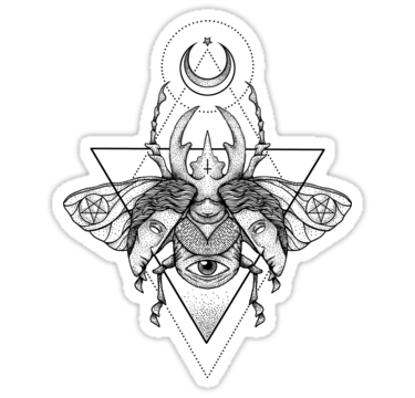 Pegatinas Escarabajo Oculto Ii De Deniart Redbubble Tatuaje De Escarabajo Tatuaje De Insectos Tatuaje Magia Negra