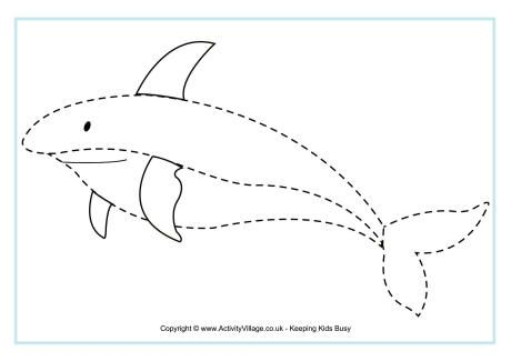 Ocean Animals Trace Worksheet Crafts And Worksheets For Preschool Toddler And Kindergarten Tracing Pictures Ocean Animals Preschool Shark Animal tracing for kindergarten