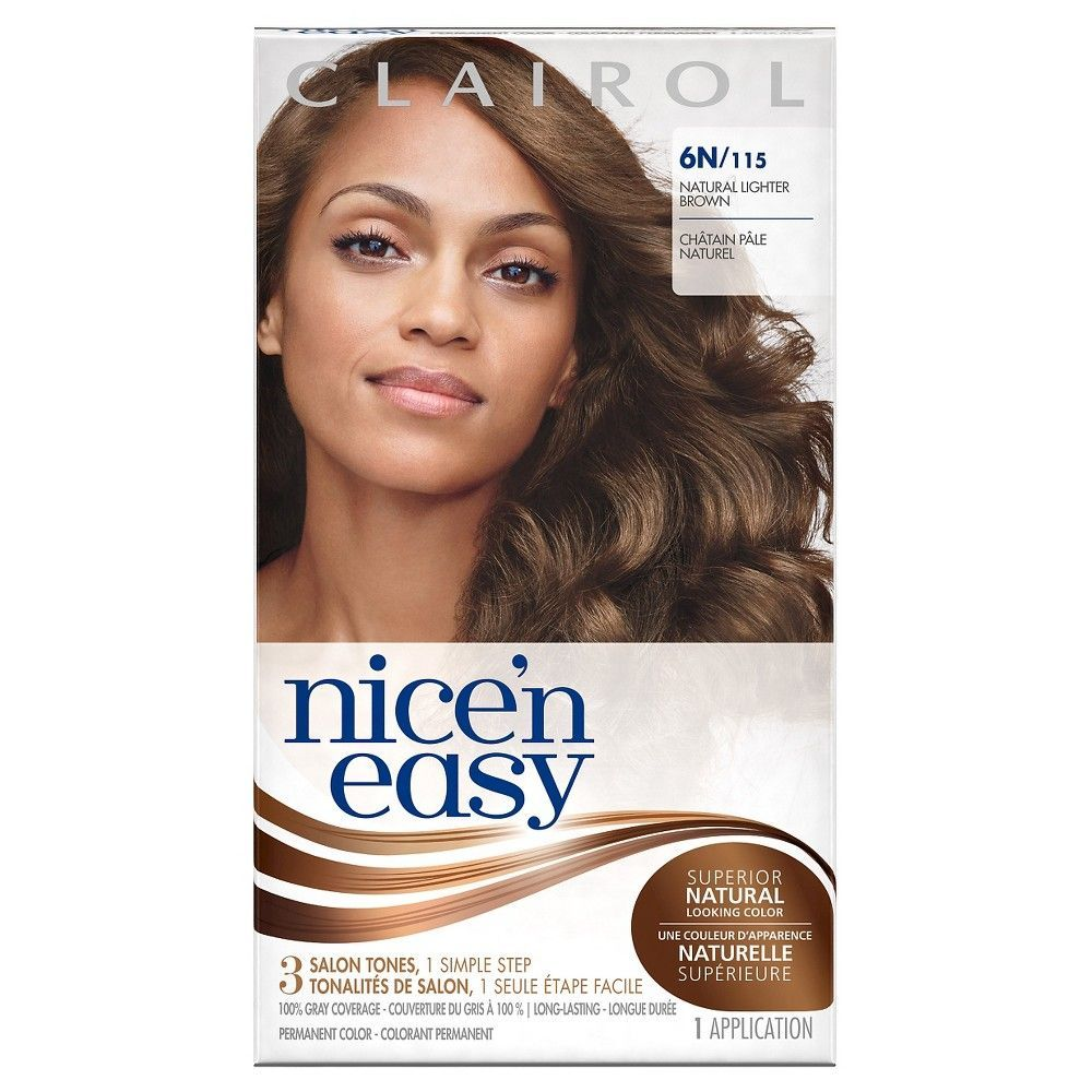 Clairol Nice N Easy Hair Color 6n Natural Lighter Brown