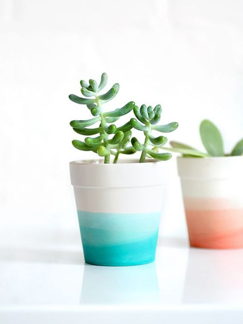 20 maceteros pintados para tus plantas   pintar plantillas, pintar