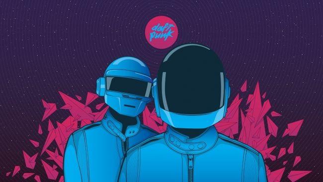 Download 1920x1080 HD Wallpaper Daft Punk Logo Graffiti Art Universe Desktop Backgrounds