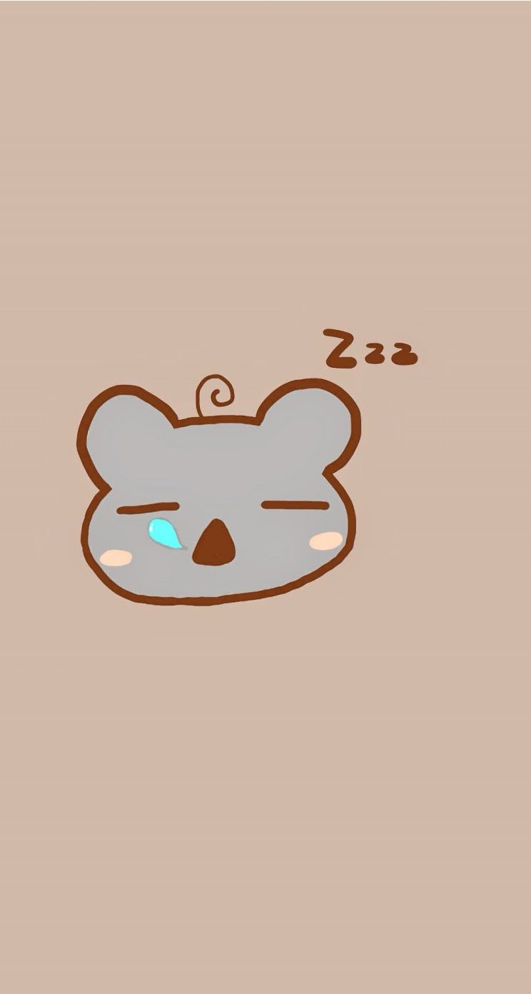 Sleeping Koala Tap To See 8 Cartoon Sleepy Animals Zzz Wallpapers