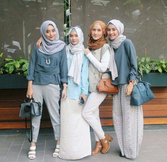 2017 Street Style Hijab Fashion Girls Hijab Style
