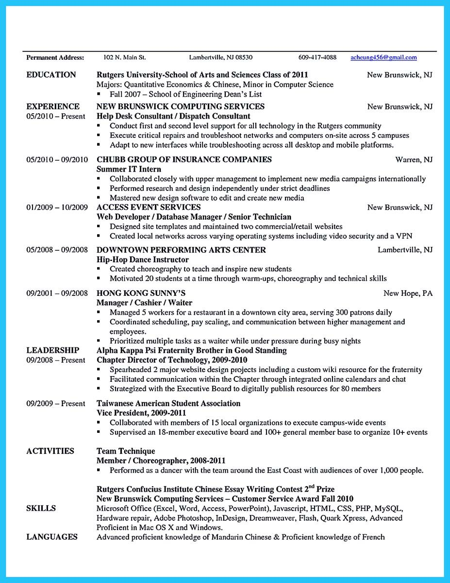 Awesome The Best And Impressive Dance Resume Examples Collections Essay On Education Resume Examples Dance Resume