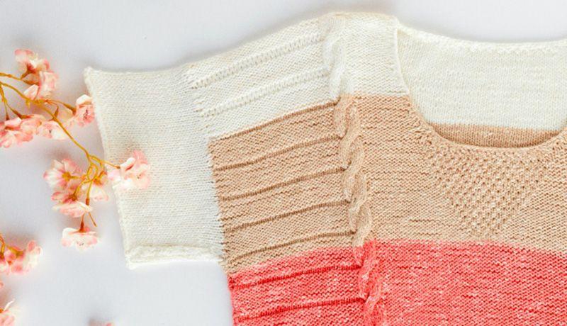 Photo of Women's Short Sleeve Sweater Knitting Pattern