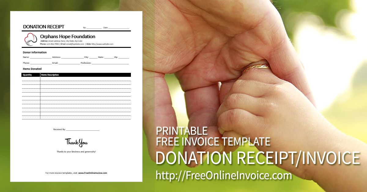 Create Receipts Free Stunning Printable Donation Receipt  Invoice Template Created In Ms Word .