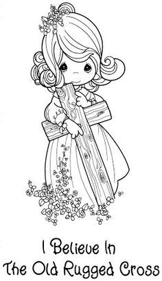 Baptism And Christening Coloring Pages Precious Moments Coloring