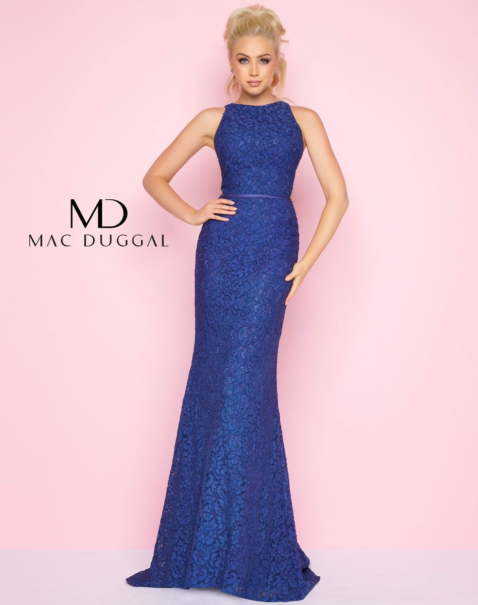 Sapphire Corded Lace Sheath Prom Dress | Alyexandria Volkov ...