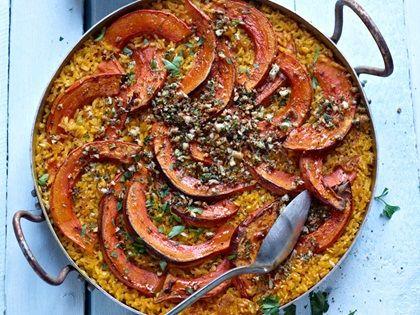 Alnatura Rezept: Kürbis-Karotten-Risotto aus dem Ofen