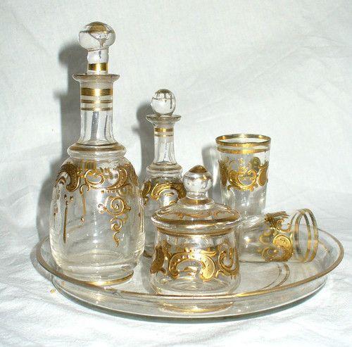 ancien service a liqueur de nuit cristal baccarat cristal porcelaine argenterie pinterest. Black Bedroom Furniture Sets. Home Design Ideas