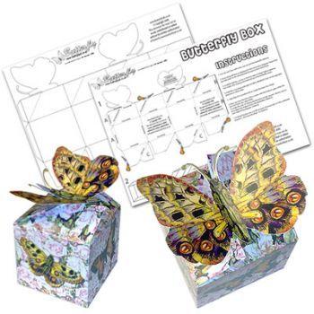 Butterfly Box Template - Interlocking Butterfly Template - butterfly template