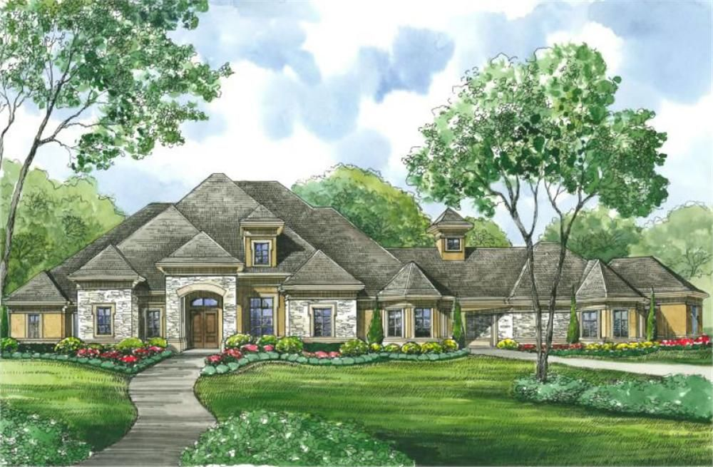 Large Images For House Plan 134 1400 Luxury House Plans One Level House Plans House Plans One Story