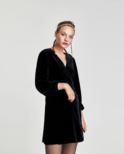Immagine Mini Di Velluto Dress 1 Wrap Vestito Pareo ZaraWear GqUSpzMV
