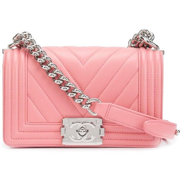 Pre Owned Chanel Vintage Small Chevron Boy Bag 27 775 Sar Liked On Polyvore Featuring Bags Handbags Pink Red Handbags Pink Handbags Bags Vintage Chanel
