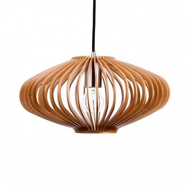 Modernistisk Nydelig lampe i tre #lamper #trelampe #pendel #lampe #wood BO-25