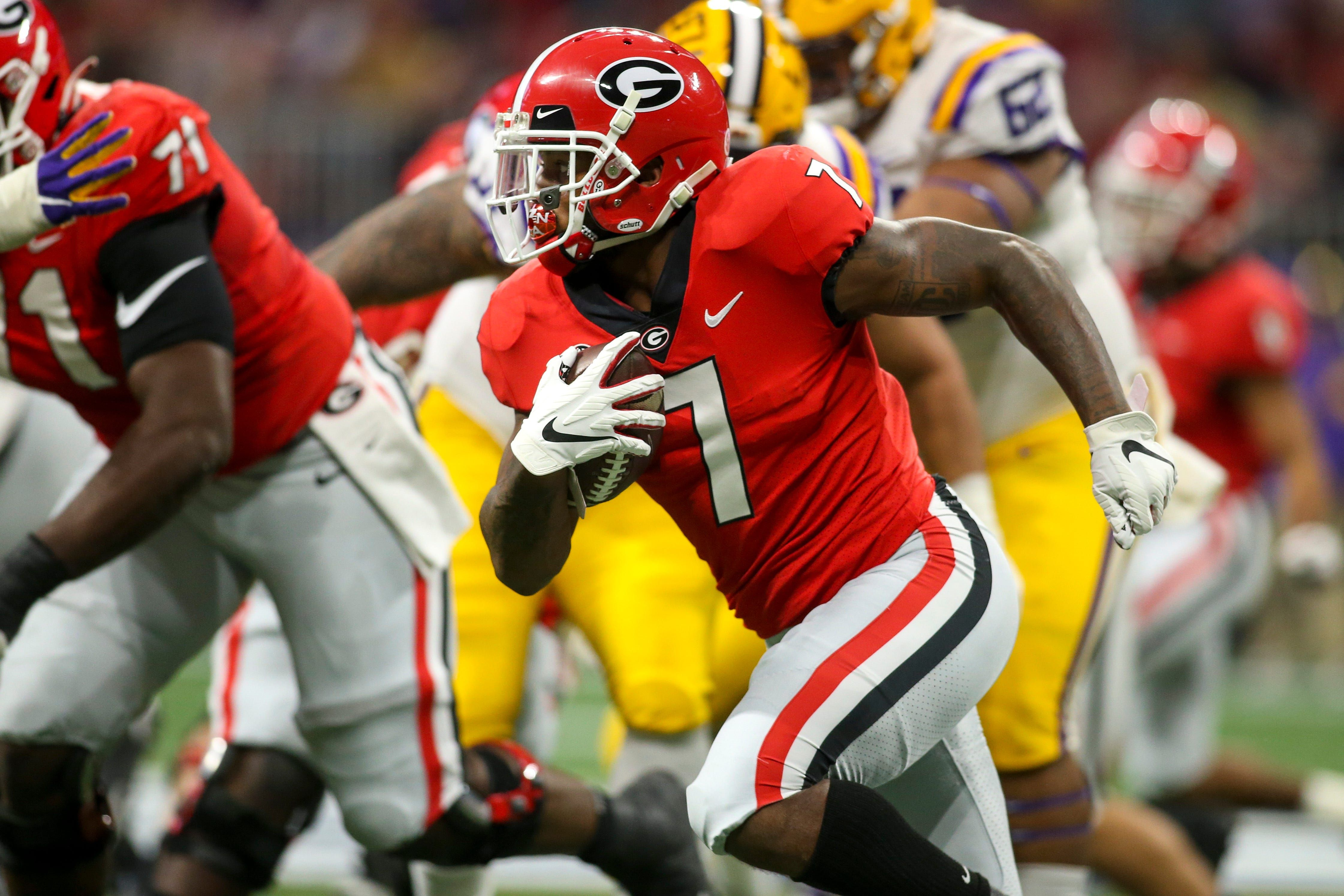 Detroit Lions Take Georgia Rb D Andre Swift With No 35 Pick In 2020 Nfl Draft In 2020 Michigan Sports Usa Today Sports Detroit Lions