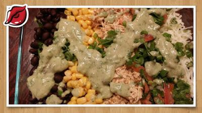 Southwestern Salad with the avocado dressing