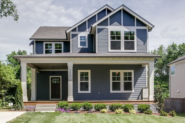 Our Exterior Color Sw Web Gray With White Trim Black Roof Stone Mv 7075 Marilyn Kimberly Hill Designs