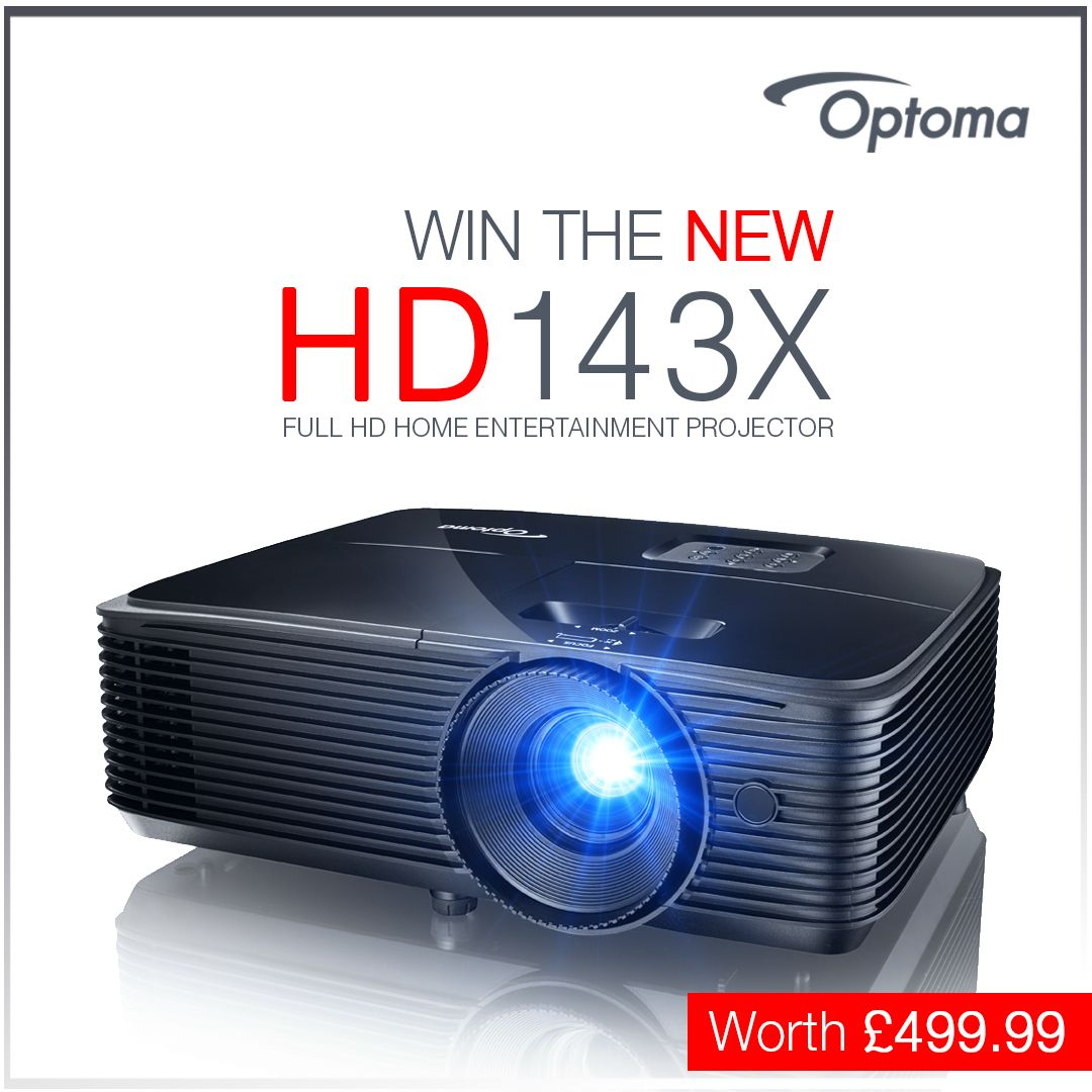 optoma hd143x projector win the new hd143x full hd home. Black Bedroom Furniture Sets. Home Design Ideas