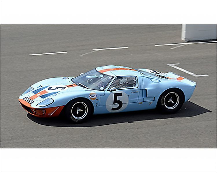 Photograph Ford Gt40 Replica 1966 Gulf Livery 10 X8 Photo