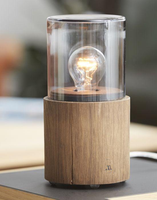 Nachttischleuchte Lantern Moderne Gluhbirnen Lampen Aus Holz