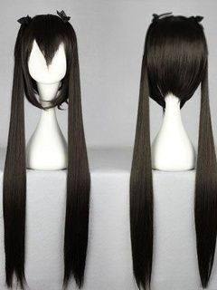 Nakano Azusa Long Straight With Ponytails Hairstyle Black Cosplay