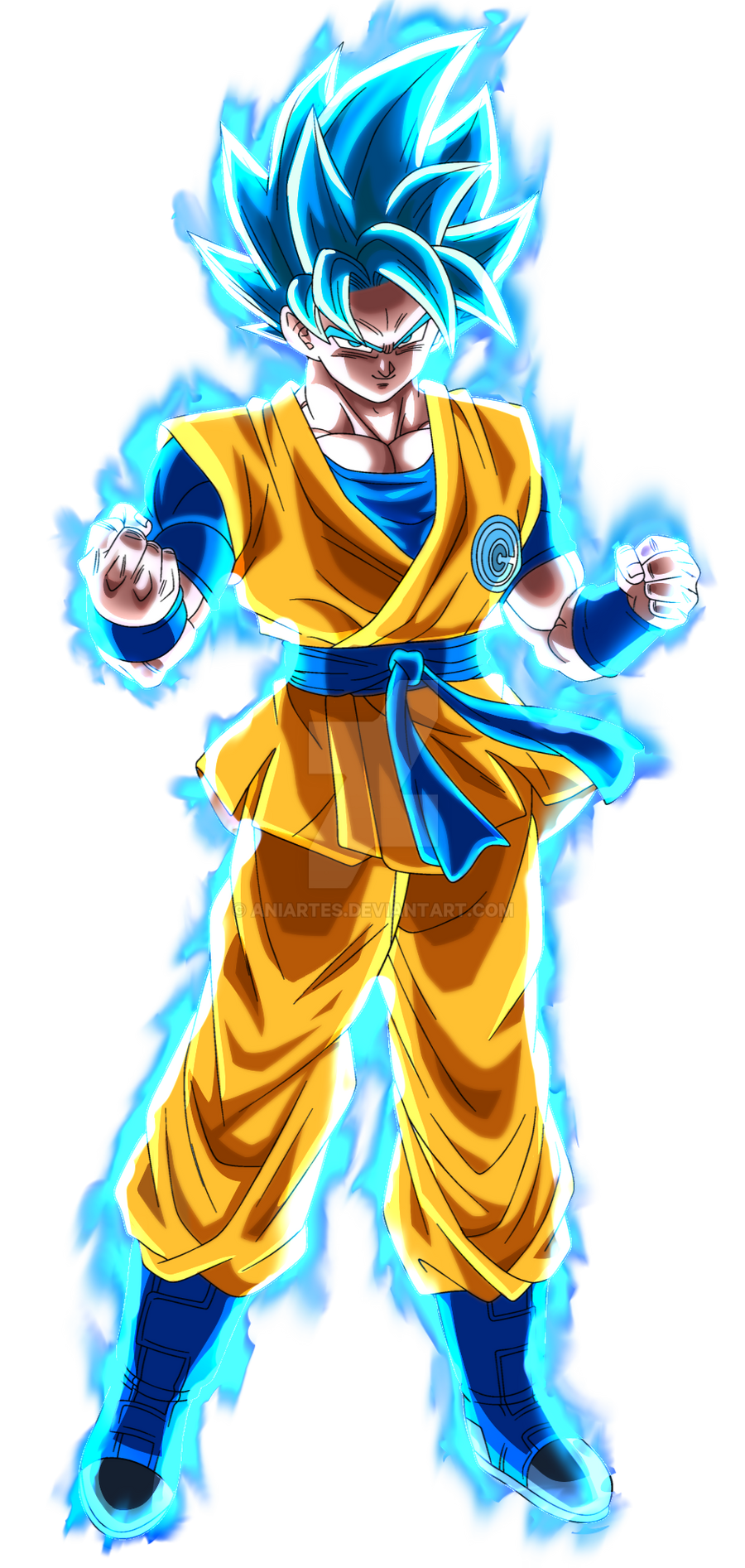 Goku Ssj Blue Aura By Aniartes On Deviantart Anime Dragon Ball Super Dragon Ball Image Dragon Ball Super Manga