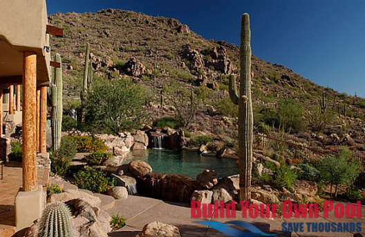 Natural Swimming Pool Built Right Into The Arizona Desert Natural Swimming Pool Swimming Pool Designs Pool Landscaping