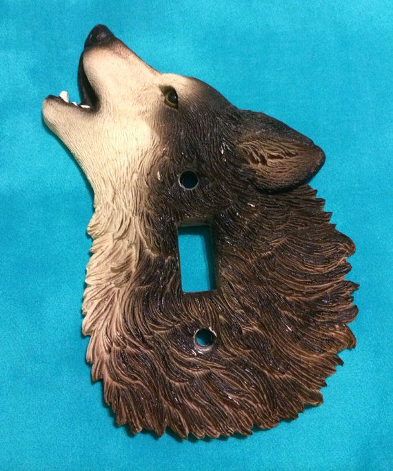 Timber Wolf Switch Plate Cover Light Decor On Etsy 10 00