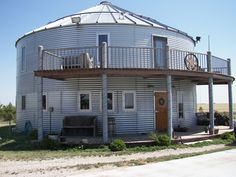 Architecture, Grain Silo Homes Wood Door How To Build A Container