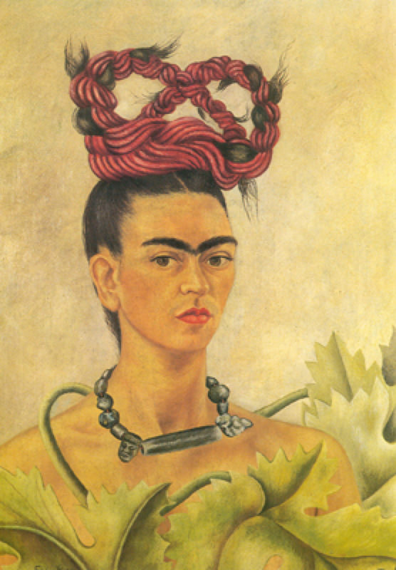 Reproduction De Frida Kahlo Autoportrait Avec Une Tresse Peintures Frida Kahlo Frida Kahlo Autoportrait