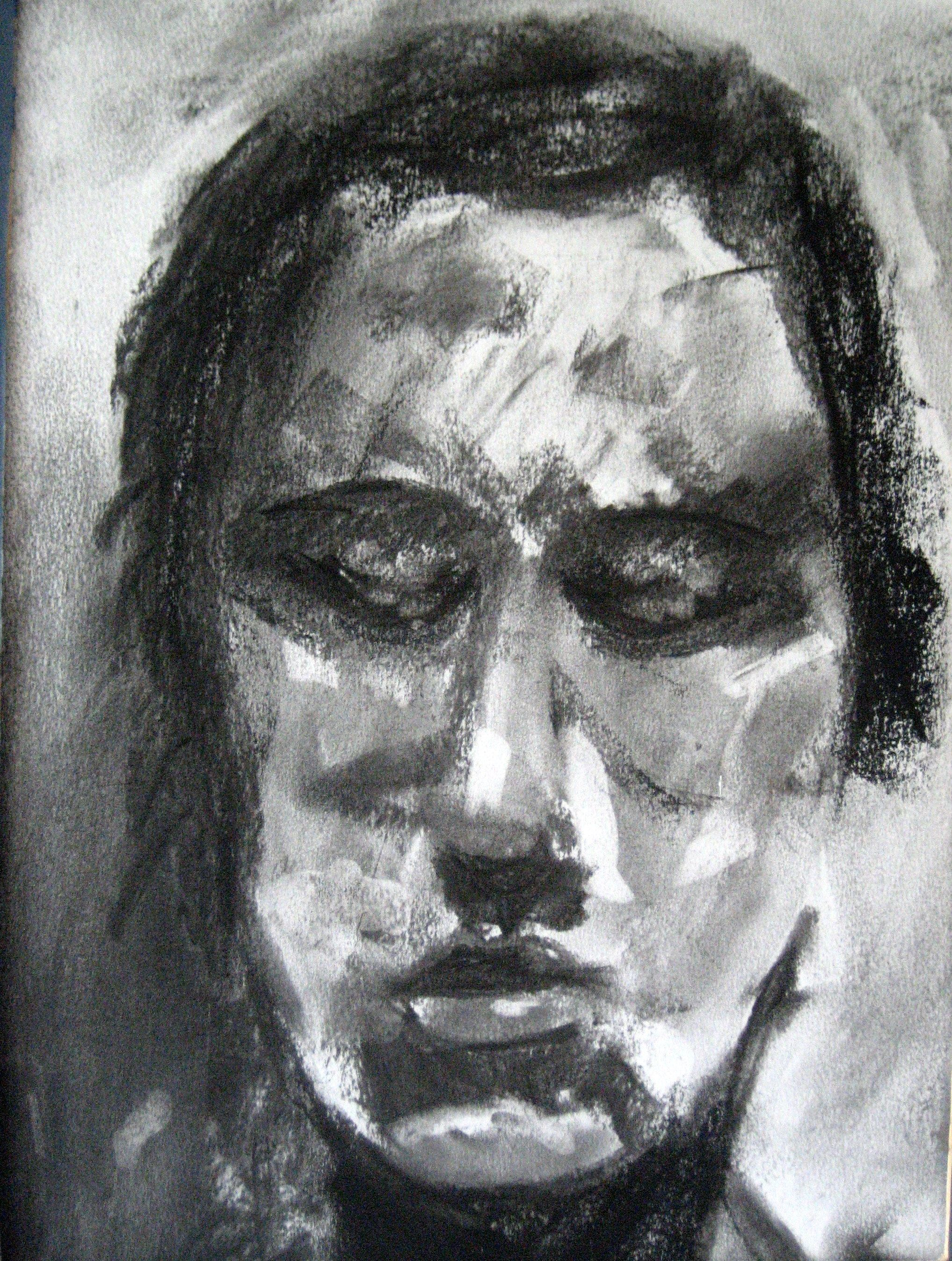 unknown face by Mel Smith - charcoal
