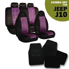 Awe Inspiring 2 Tone Purple Leopard Seat Covers Black Carpet Mats For Jeep Gmtry Best Dining Table And Chair Ideas Images Gmtryco
