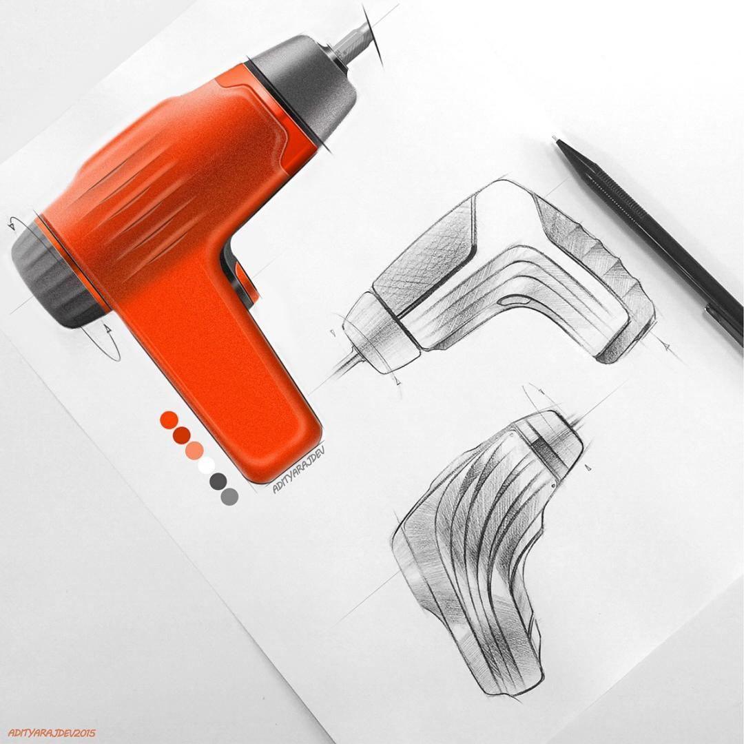 Industrial design sketches by designer Adityaraj Dev.