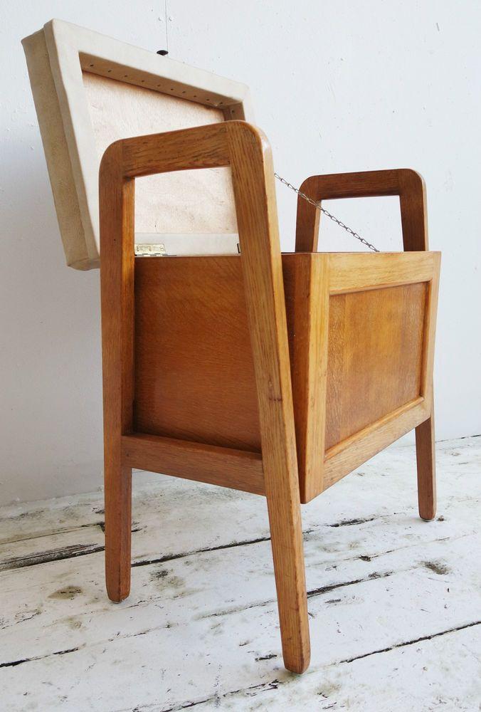 Vtg 50s 60s Retro Mid Century Modernist Danish Era Oak Piano Stool Storage Chair in Antiques & Vtg 50s 60s Retro Mid Century Modernist Danish Era Oak Piano Stool ... islam-shia.org