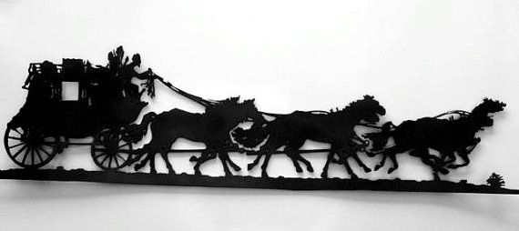 Western Stage Coach Metal Art by RillaBee on Etsy, $175.00