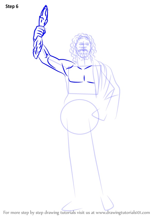 Zeus Easy Drawing : drawing, DrawingTutorials101.com, Drawings,, Zeus,, Greek